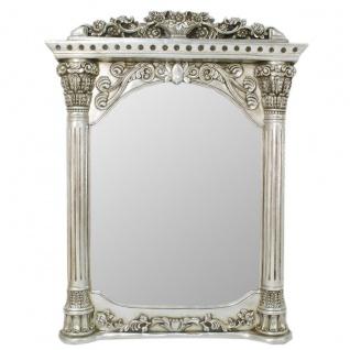 Casa Padrino Barock Wandspiegel Silber 90 x H. 115 cm - Barockstil Spiegel Antik Stil Möbel