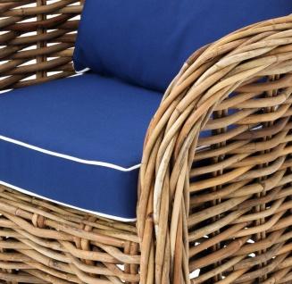 Casa Padrino Designer Rattan Sessel 70 x 70 x H. 88 cm - Luxus Wohnzimmer Möbel - Vorschau 3