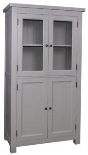 Casa Padrino Landhausstil Küchenschrank mit 4 Türen Grau 100 x 50 x H. 180 cm - Küchenmöbel