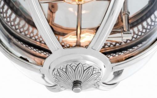 Casa Padrino Luxus Deckenleuchte Nickel Durchmesser 45 x H 30 cm Antik Stil - Möbel Lüster Deckenlampe - Vorschau 3