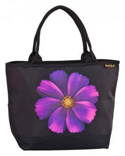 Designer Shoppertasche mit einzelner Blüte einer Kosmee - Elegante Tasche - Luxus Design