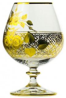 Casa Padrino Luxus Barock Brandy Glas 6er Set Gold Ø 9 x H. 14, 5 cm - Handgefertigte und handgravierte Cognacgläser - Hotel & Restaurant Accessoires - Luxus Qualität - Vorschau 2