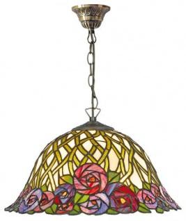 Casa Padrino Tiffany Deckenleuchte / Hängeleuchte mit Kette Mosaik Glas Durchmesser 40 cm - Leuchte Lampe