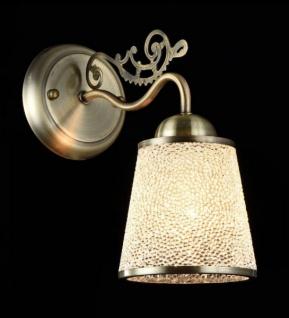 Casa Padrino Jugendstil Wandleuchte Bronze 14 x H 26 cm Jugendlicher Stil - Wandlampe Wand Beleuchtung