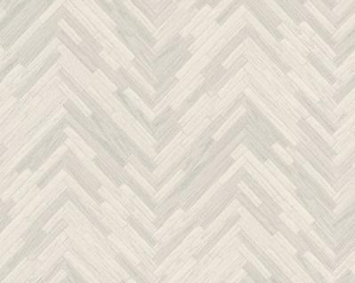 Versace Designer Barock Vliestapete IV 37051-1 Creme / Grau - Tapete mit Holzstruktur - Hochwertige Qualität