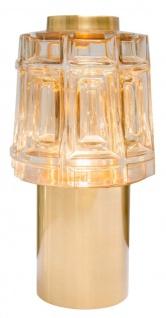Casa Padrino Designer Tischlampe Durchmesser 14 x H. 26, 5 cm - Luxus Möbel