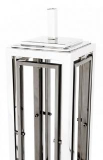 Casa Padrino Luxus Tischleuchte Nickel Durchmesser 20 x 40 x H 96 cm - Leuchte - Tischleuchte - Vorschau 3