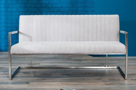 Casa Padrino Designer Sitzbank Stone Grau Breite 160 cm, Höhe 80 cm - Vorschau 3