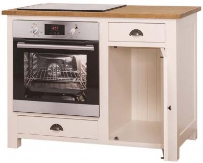 Casa Padrino Landhausstil Herdumbauschrank mit Tür und 2 Schubladen Creme / Naturfarben 120 x 65 x H. 90 cm - Küchenmöbel - Vorschau 2