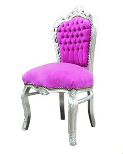 barock esszimmer stuhl pink silber kaufen bei demotex gmbh. Black Bedroom Furniture Sets. Home Design Ideas