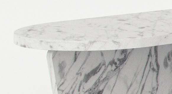 Casa Padrino Luxus Marmor Couchtisch Weiß 140 x 70 x H. 35 cm - Rechteckiger Wohnzimmertisch aus hochwertigem spanischen Carrara Marmor - Luxus Möbel - Vorschau 2