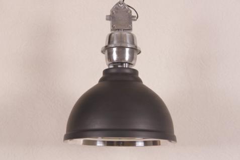 Casa Padrino Vintage Industrie Hängeleuchte Matt Anthrazit Metall Durchmesser 35 cm - Restaurant - Hotel Lampe Leuchte - Industrial Leuchte