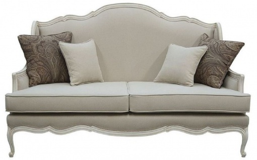 Casa Padrino Luxus Barock Sofa Grau / Antik Grau 185 x 95 x H. 111 cm - Wohnzimmer Sofa mit dekorativen Kissen - Edle Barock Möbel