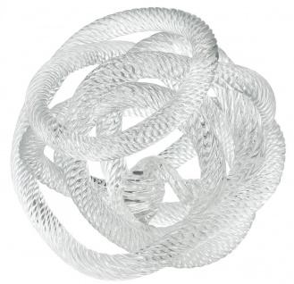 Casa Padrino Luxus Glas Schreibtisch Deko Nautisches Pier Seil 20 x 20 x H. 20 cm - Büro Deko Accessoires