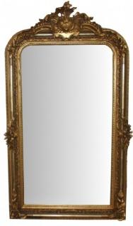 Casa Padrino Barock Wandspiegel Gold Antik-Look Höhe 159 cm, Breite 89 cm - Edel & Prunkvoll