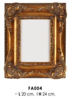 Casa Padrino Barock Bilderrahmen Gold Antik Stil 24 x 20 cm - Bilder Rahmen Foto Rahmen Jugendstil Antik Stil Mod AX23
