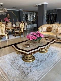 Casa Padrino Luxus Barock Sofa Silber / Braun / Gold - Prunkvolles Barockstil Wohnzimmer Sofa - Barock Wohnzimmer Möbel - Vorschau 2