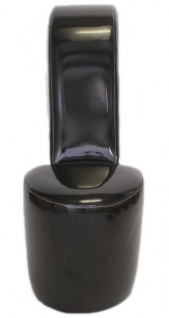 Casa Padrino High Heel Sessel Schwarz Lack Luxus Design - Designer Sessel - Club Möbel - Schuh Stuhl Sessel - Vorschau 2
