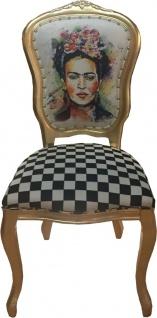 Casa Padrino Luxus Barock Esszimmer Set Madmoisell Mehrfarbig / Gold 55 x 54 x H. 103 cm - 6 handgefertigte Esszimmerstühle - Barock Esszimmermöbel - Vorschau 2