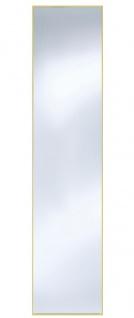 Casa Padrino Wandspiegel mit mattgoldem Aluminiumrahmen 40 x H. 175 cm - Luxus Spiegel