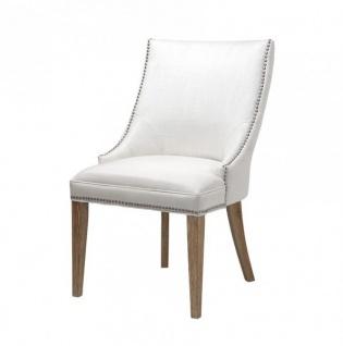 Casa Padrino Luxus Birkenholz Esszimmer Stuhl Elfenbein - Luxus Hotel Möbel