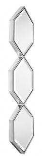 Casa Padrino Designer Spiegel Silber 25 x H. 110 cm - Luxus Wandspiegel