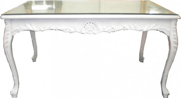 Barock Esstisch Weiss 160cm - Esszimmer Tisch