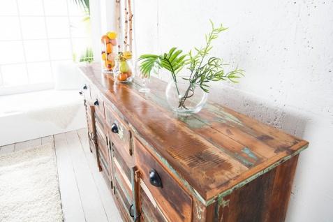 Casa Padrino Designer Sideboard Mehrfarbig B.180 x H.100 x T.45 - Fernsehschrank - Kommode - Handgefertigt - Massivholz - Vorschau 5
