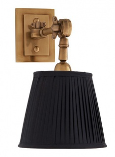 Casa Padrino Luxus 1er Wandleuchte Schwarz / Antik Stil Messing - Leuchte - Luxury Collection - Vorschau 2