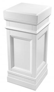 Casa Padrino Säule Weiß 44 x 44 x H. 103 cm - Luxus Beistelltisch