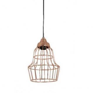 Casa Padrino Hängeleuchte Deckenleuchte Roségold Industrial Design Durchmesser 18 x H 28 cm - Industrie Lampe Leuchte Industrieleuchte