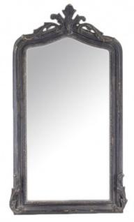 Casa Padrino Luxus Barock Wandspiegel Antik Schwarz 150 x 75 cm - Massiv und Schwer - Schwarzer Spiegel
