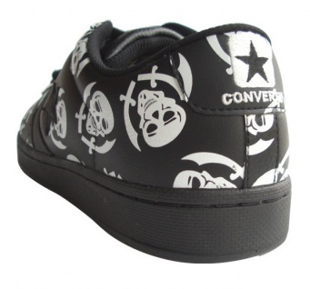 Converse Skateboard Schuhe Pro Leather VR Ox Black / White Skulls Sneaker Sneakers Shoes 3