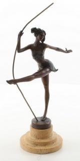 Casa Padrino Luxus Bronze Skulptur Ballerina Bronze / Beige 20, 3 x 10, 2 x H. 30 cm - Deko Bronzefigur mit Natursteinsockel - Vorschau 2