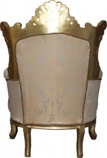 "Casa Padrino Barock Sessel "" Al Capone"" Mod2 Creme / Gold Möbel - Antik Stil - Vorschau 2"