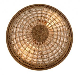 Casa Padrino Luxus Deckenleuchte Messing Durchmesser 45 x H 37 cm Antik Stil - Möbel Lüster Deckenlampe - Vorschau 4
