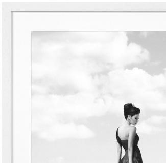 Casa Padrino Luxus Bild Dame mit Geparden in Paris Mehrfarbig / Weiß 115 x H. 85 cm - Kunstdruck mit Holzrahmen - Vorschau 2