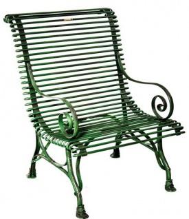 Casa Padrino Gartenstuhl aus Schmiedeeisen - verschiedene Farben - 63 cm x 45 cm x H98 cm - Luxus Gartenmöbel