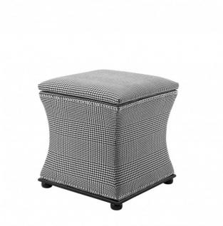 Casa Padrino Luxus Sitz Hocker 47 x 47 x H. 52 cm - Luxus Qualität