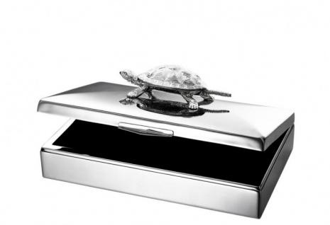 Casa Padrino Luxus Beauté Box Schildkröte 33 x 22 x H. 13, 5 cm - Schmuckkasten - Schmuckkästchen - Schmuckschatulle - Vorschau 2