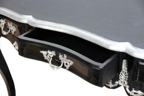 Casa Padrino Luxus Barock Schreibtisch Schwarz / Silber Sekretär Luxus Möbel - Vorschau 4