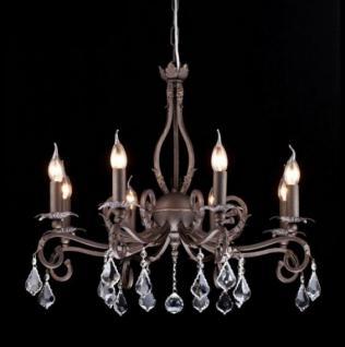Casa Padrino Barock Decken Kristall Kronleuchter Dunkel Braun 69 x H 58 cm Antik Stil - Möbel Lüster Leuchter Hängeleuchte Hängelampe
