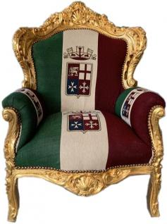 "Casa Padrino Barock Sessel "" King"" Italien / Gold - Möbel Antik Stil"