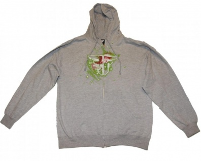 Fallen Skateboard Hoodie Zip Grey Sweater