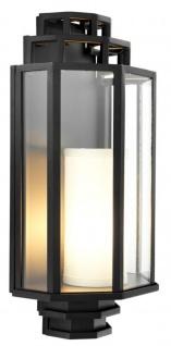Casa Padrino Luxus Wandlampe Schwarz 24 x 15 x H. 48, 5 cm - Hotel & Restaurant Wandleuchte