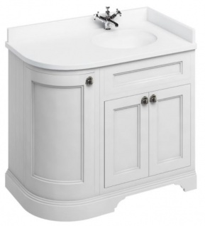 Casa Padrino Waschschrank mit Kunststeinplatte und 3 Türen - Jugendstil Waschtisch