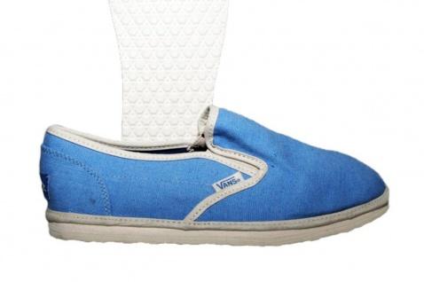 Vans Skateboard Schuhe Classic Slip On Bamboo Blue
