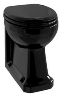 Casa Padrino Luxus Jugendstil WC Schwarz 36 x 42, 5 x H. 47, 5 cm - Badezimmer Möbel - Luxus Qualität