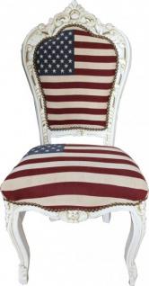 Casa Padrino Barock Esszimmer Stuhl USA Design / Creme