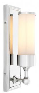 Casa Padrino Luxus Hotel / Restaurant Wandleuchte Silber - Wohnzimmer Wandlampe